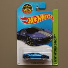 Hot Wheels 2015 HW Workshop '12 Acura NSX Concept (blue) (SEE CONDITION)
