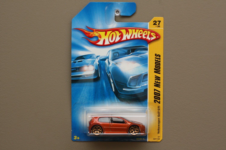 Hot Wheels 2007 New Models Volkswagen Golf GTI (orange - Kmart Excl.)
