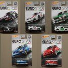 Hot Wheels 2016 Car Culture Euro Style (COMPLETE SET OF 5) (Porsche, BMW, Volkswagen, Fiat)