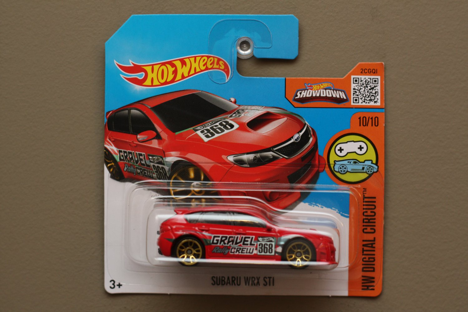 hot wheels 2016 hw digital circuit subaru wrx sti red. Black Bedroom Furniture Sets. Home Design Ideas