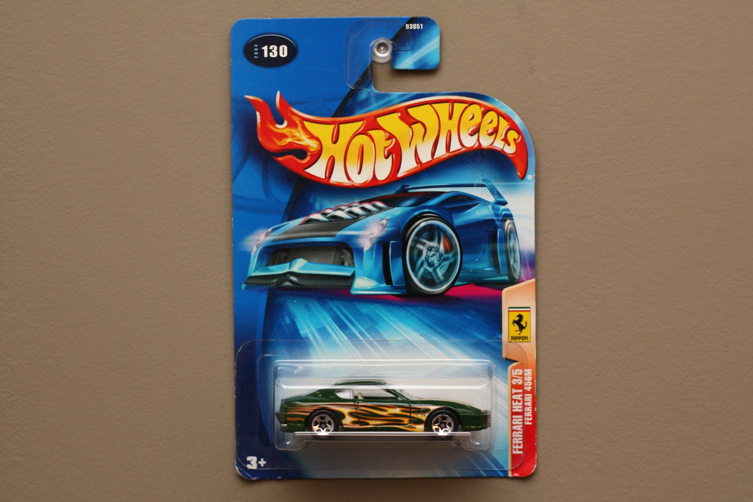Hot Wheels 2004 Ferrari Heat Ferrari 456M (green) (5-spoke wheel variation)