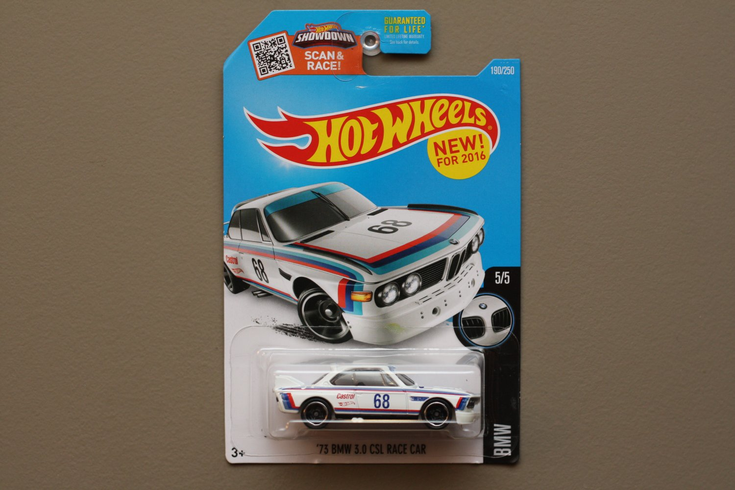 Hot Wheels 2016 BMW '73 BMW 3.0 CSL Race Car (white) (SEE CONDITION)