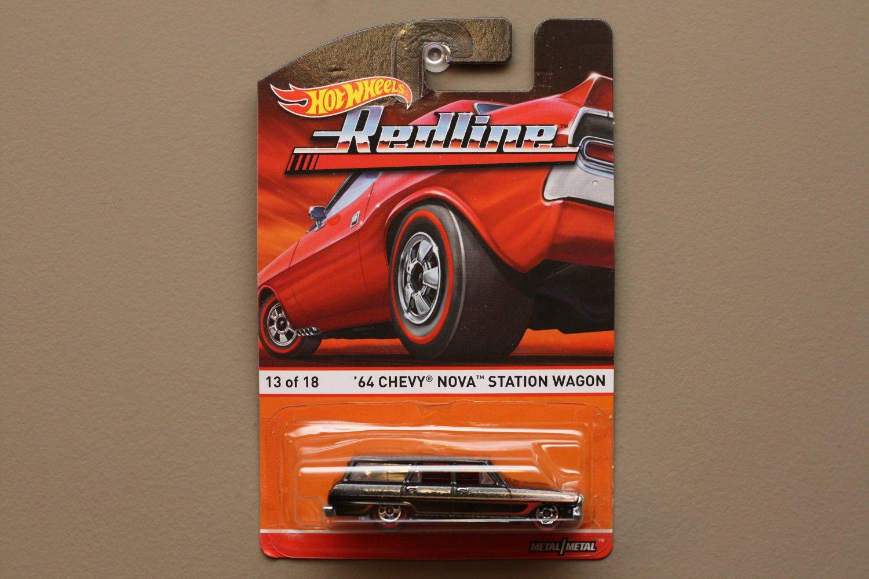 Hot Wheels 2015 Heritage Redline '64 Chevy Nova Station Wagon (SEE CONDITION)