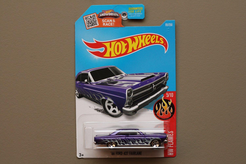 Hot Wheels 2016 HW Flames '66 Ford Fairlane 427 (purple)