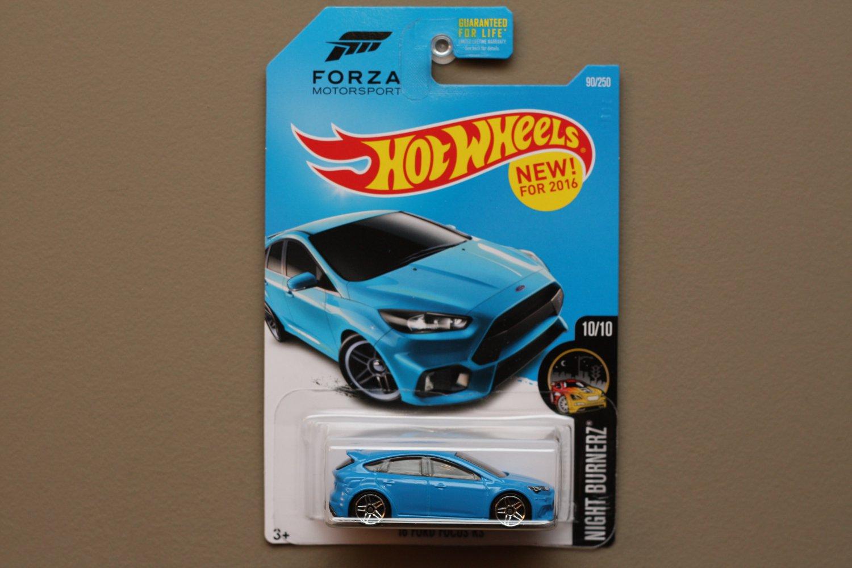 Hot Wheels 2016 Nightburnerz '16 Ford Focus RS (blue) (Forza Motorsport)