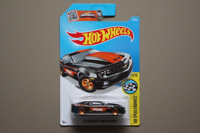 Hot Wheels 2016 HW Speed Graphics '13 Chevrolet COPO Camaro (black)