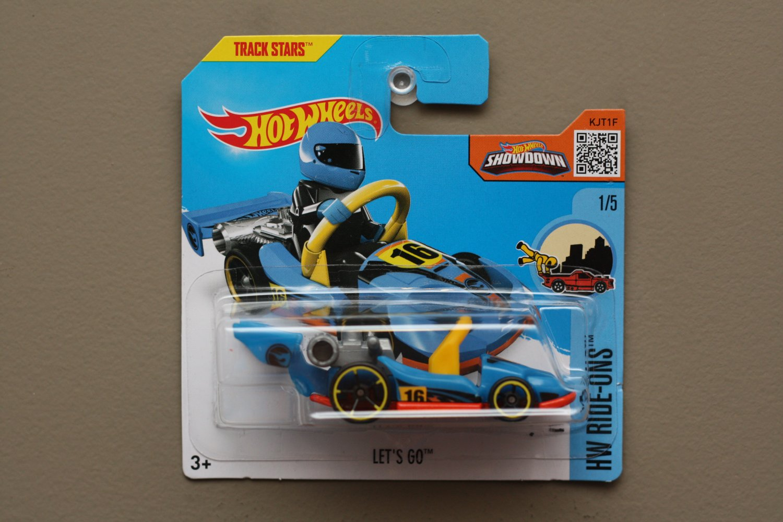 Hot Wheels 2016 HW Ride-Ons Let's GO (blue) (Treasure Hunt)