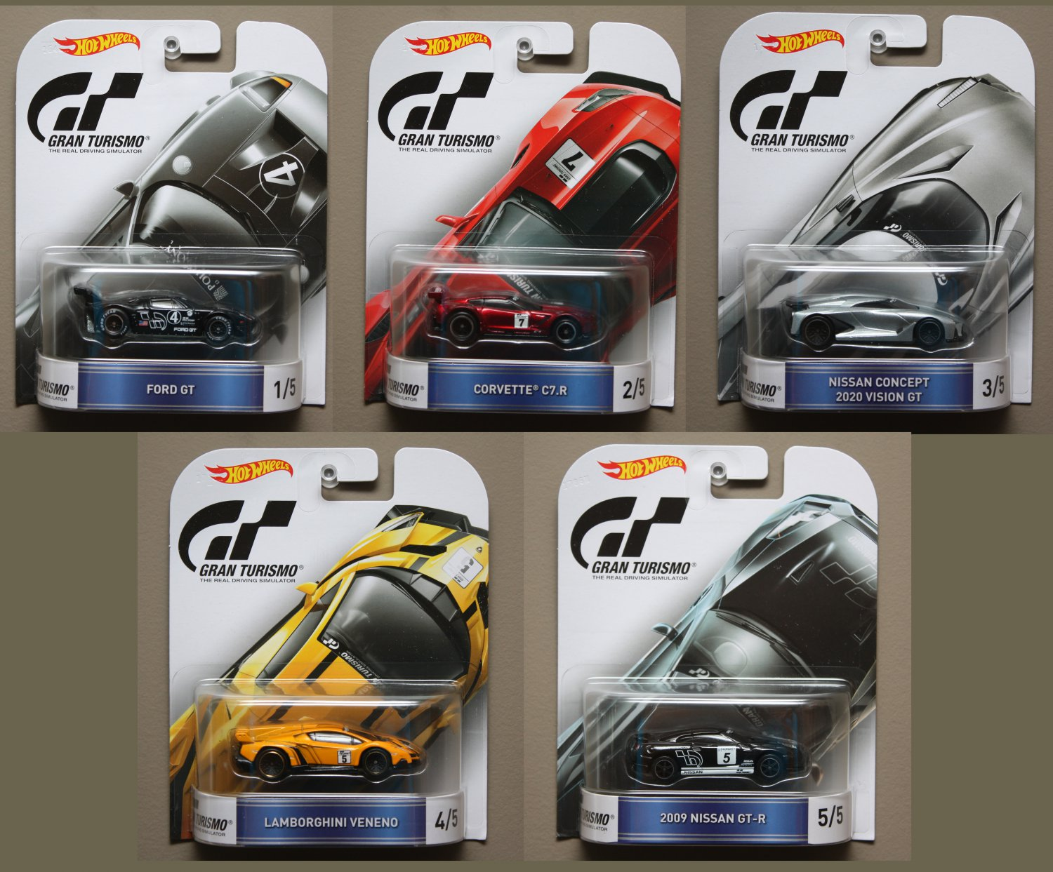 Hot Wheels 2016 Retro Ent Gran Turismo Complete Set Of 5
