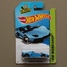 Hot Wheels 2014 HW Workshop Lamborghini Aventador J (blue) (SEE CONDITION)