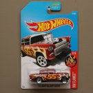 Hot Wheels 2017 HW Flames '55 Chevy Bel Air Gasser (burgundy)