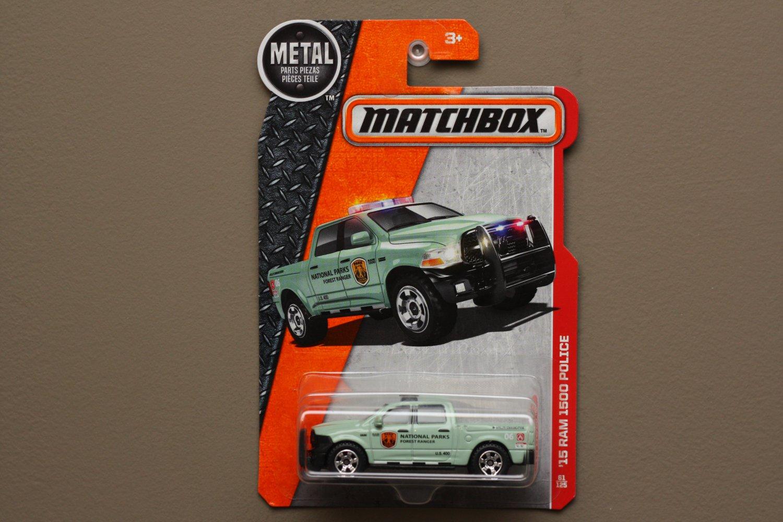 Matchbox 2016 MBX Heroic Rescue '15 Dodge RAM 1500 Police (light green)