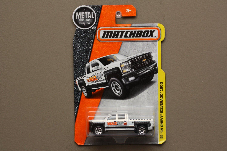 Matchbox 2016 MBX Construction '14 Chevy Silverado (white)