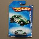 Hot Wheels 2009 Heat Fleet Custom Volkswagen Beetle (green)