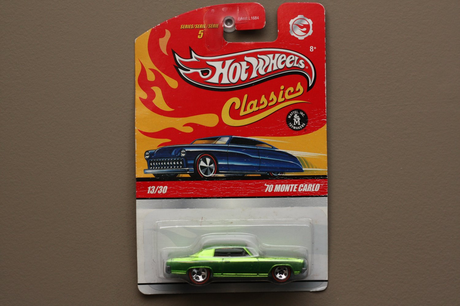 Hot Wheels 2009 Classics Series 5 '70 Monte Carlo (green) (SEE CONDITION)