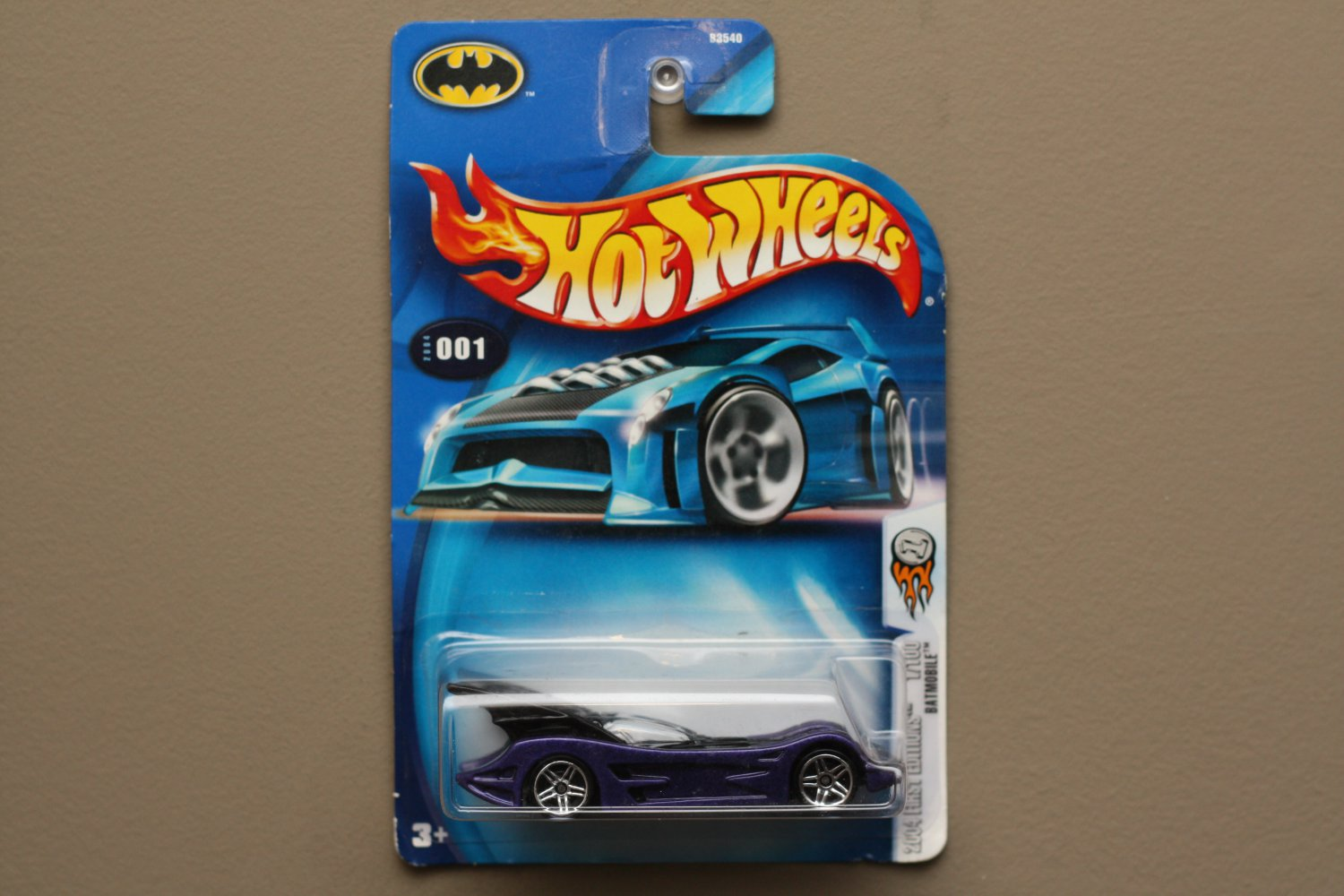 Hot Wheels 2004 First Editions Batman Batmobile (purple/black) (SEE CONDITION)