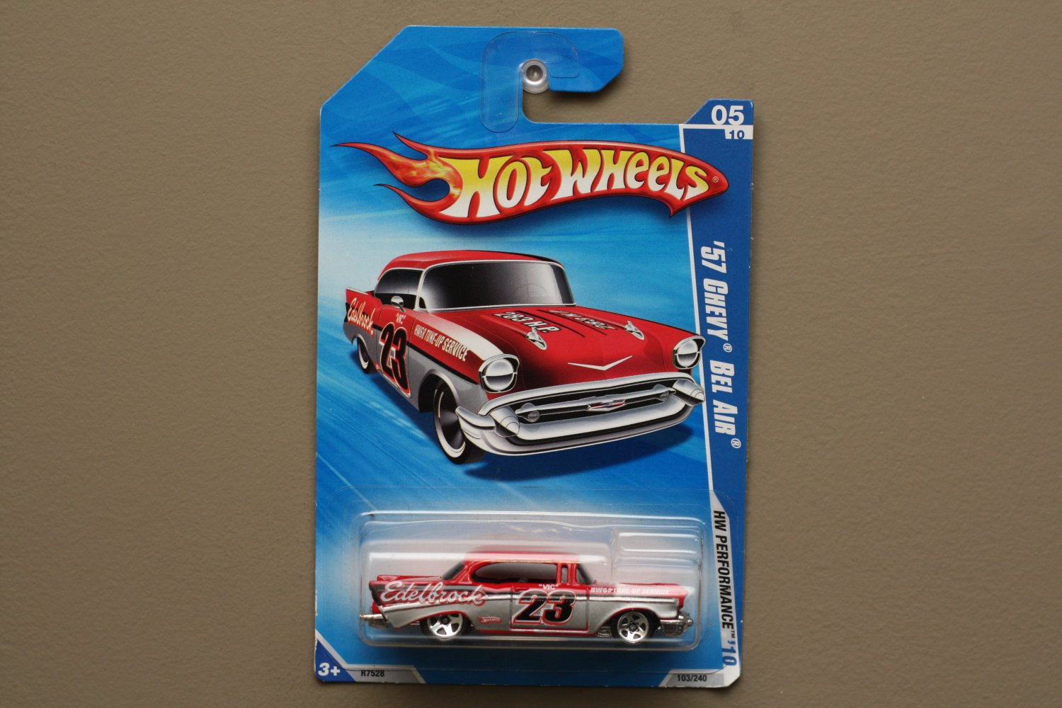 Hot Wheels 2010 HW Performance '57 Chevy Bel Air (red - Kmart Excl.)