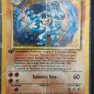 Pokemon Card Base Set 1 MACHAMP #8/102 (1st Edition / Holographic)