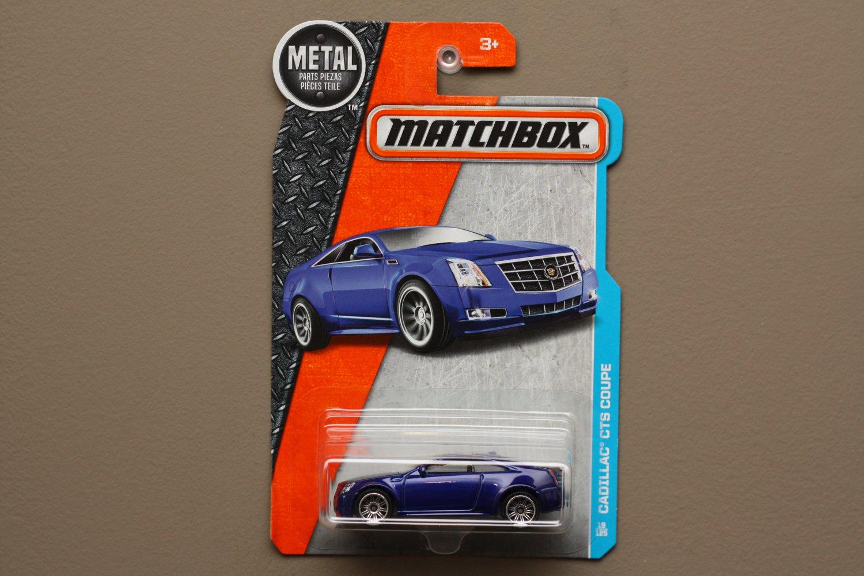 Matchbox 2016 MBX Adventure City Cadillac CTS Coupe (blue)
