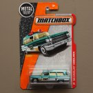 Matchbox 2016 MBX Heroic Rescue '63 Cadillac Ambulance (teal)