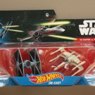 Hot Wheels 2016 Star Wars Ships 2-Pack Imperial TIE Fighter vs X-Wing Fighter (Red 2)