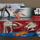 Hot Wheels 2016 Star Wars Ships 2-Pack Imperial AT-AT Walker vs Rebel Snowspeeder