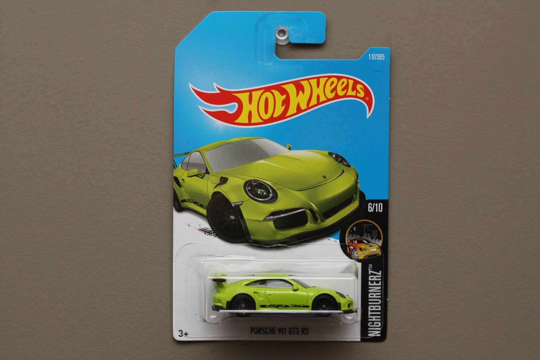 Hot Wheels 2017 Nightburnerz '16 Porsche 911 GT3 RS (green)