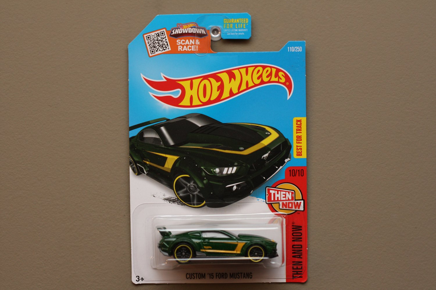 Hot Wheels 2016 Then And Now Custom '15 Ford Mustang (green)