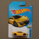 Hot Wheels 2017 Factory Fresh '17 Acura NSX (yellow)