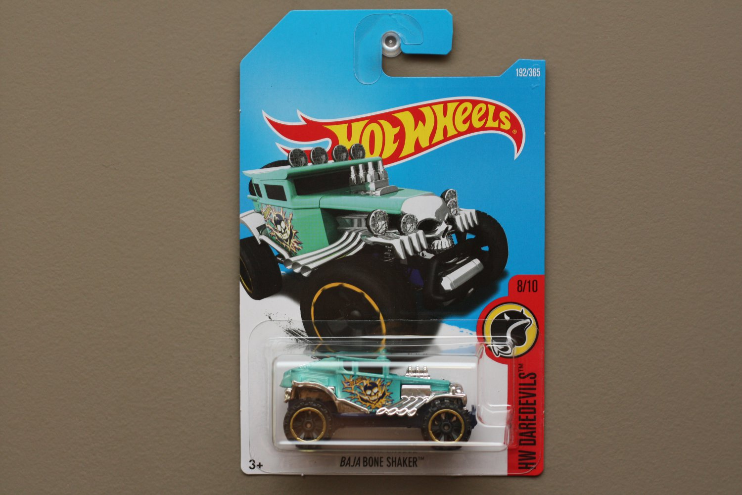 Hot Wheels 2017 HW Daredevils BAJA Bone Shaker (turquoise)