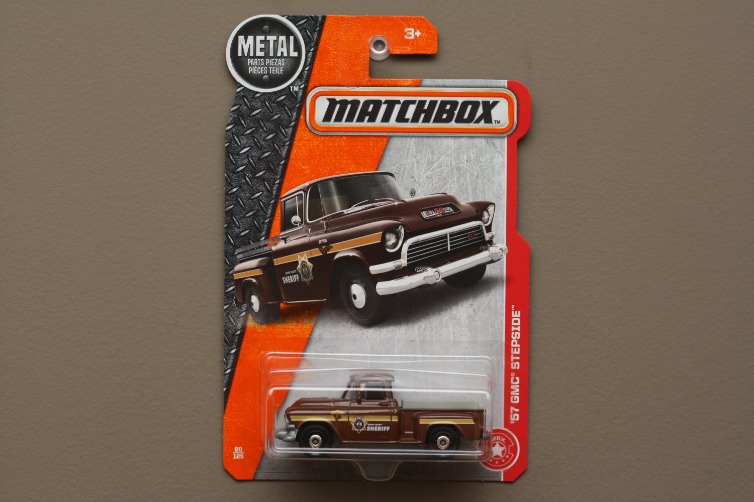 Matchbox 2017 MBX Heroic Rescue '57 GMC Stepside (brown)
