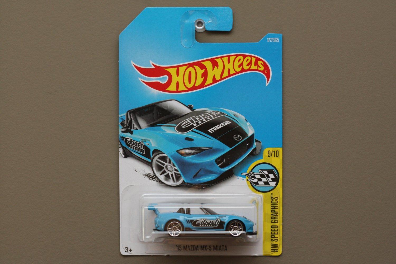 Hot Wheels 2017 HW Speed Graphics '15 Mazda MX-5 Miata (blue)