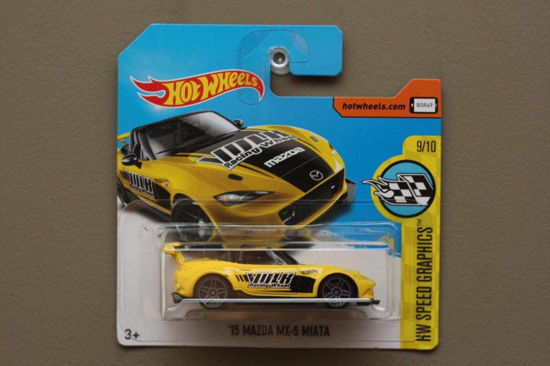 Hot Wheels 2017 HW Speed Graphics '15 Mazda MX-5 Miata (yellow)