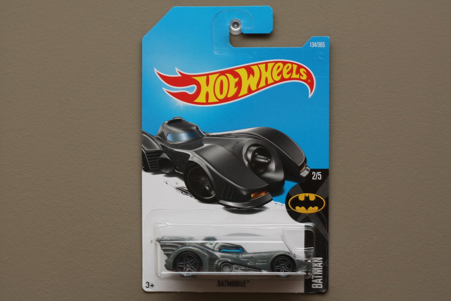 Hot Wheels 2017 Batman Batmobile (1989) (graphite) (SEE CONDITION)