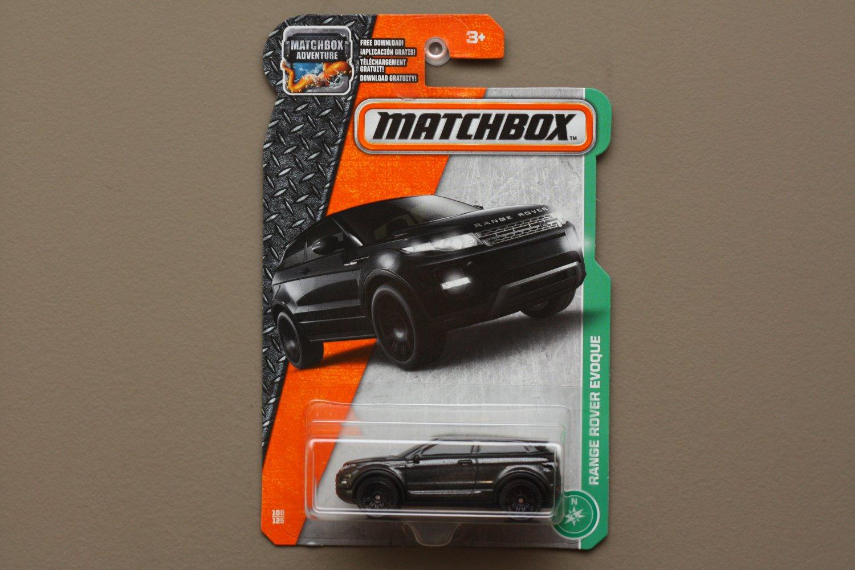 Matchbox 2017 MBX Explorers Land Rover Range Rover Evoque (black)