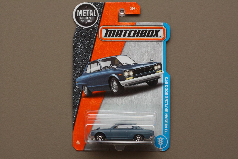 Matchbox 2017 MBX Adventure City '71 Nissan Skyline 2000 GTX (steel blue) (SEE CONDITION)