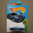 Hot Wheels 2016 HW Exotics '17 Ford GT (blue) (SEE CONDITION)