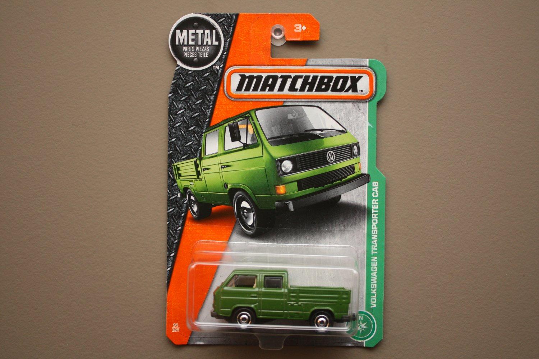 Matchbox 2017 MBX Explorers Volkswagen Transporter Cab (green) (loaded bed variation)