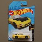 Hot Wheels 2018 Nightburnerz '95 Mazda RX-7 (yellow) (SEE CONDITION)