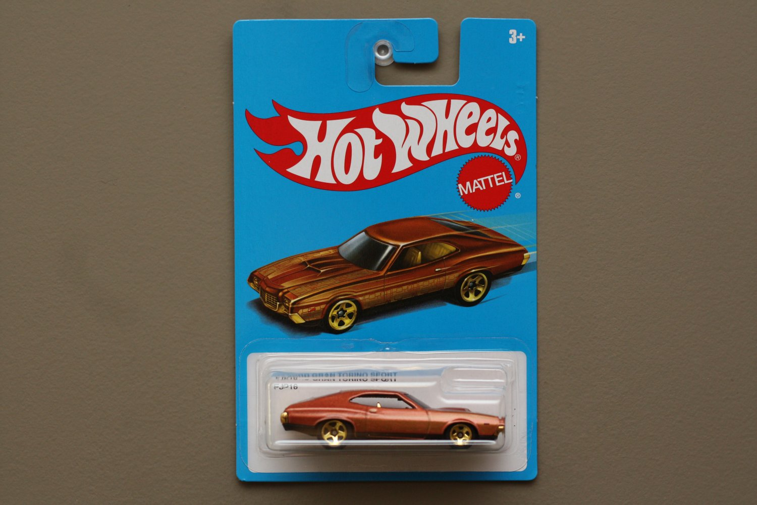 Hot Wheels 2016 Retro Nostalgia '72 Ford Gran Torino Sport