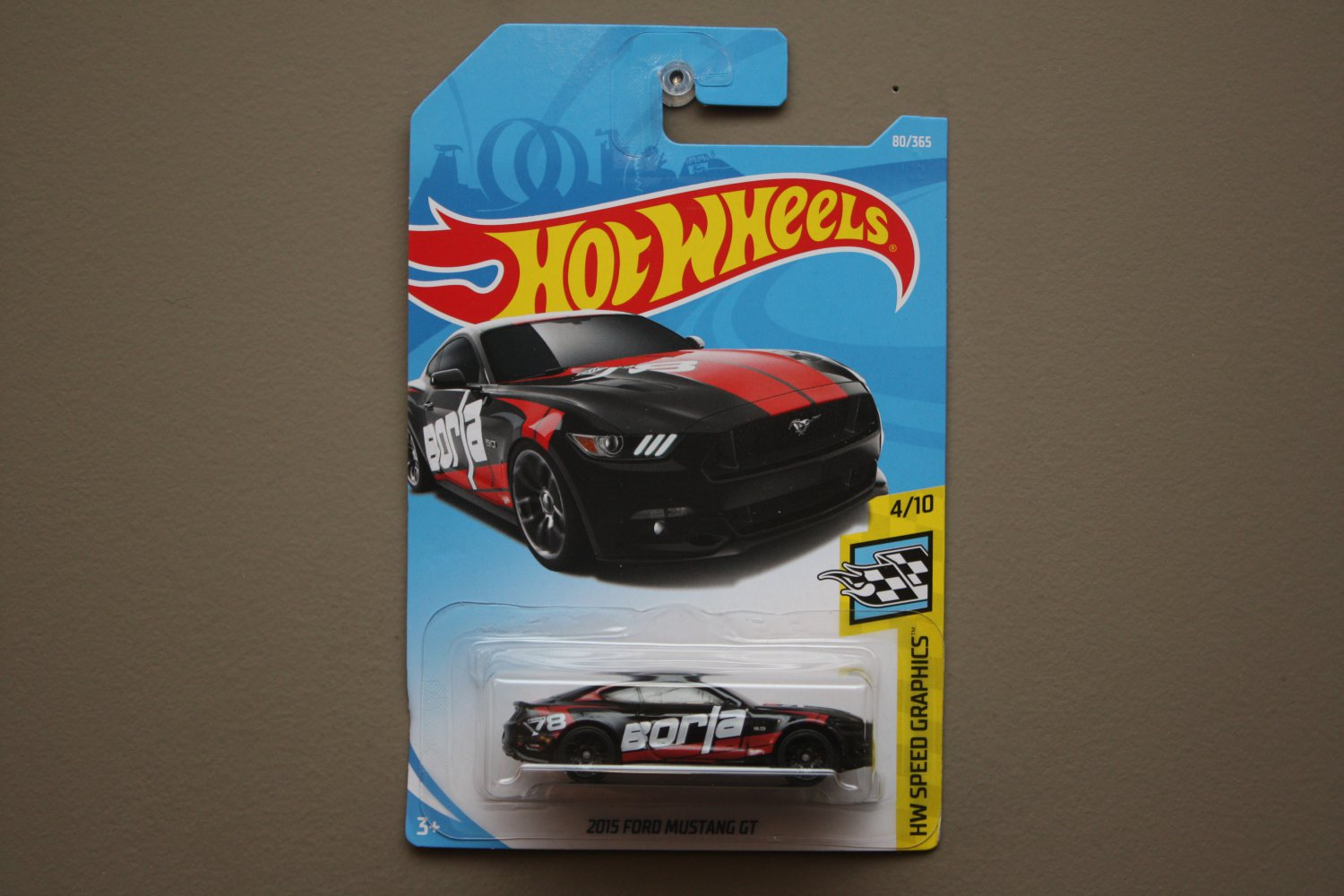 Hot wheels 2018 hw speed graphics 15 ford mustang gt black