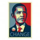 OBAMA CHANGE PRINT SIGNED BY SHEPARD FAIRY