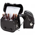 4pc Studded Motorcycle Saddlebag Cooler Set