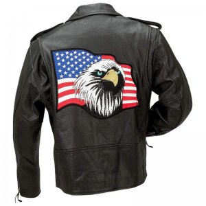 Solid Leather Eagle Jacket (Size1: M)