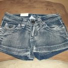 jean rhinstone shorts
