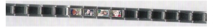 9 mm Silver Rectangle Photo Charm