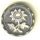 Daisy flower button celluloid (ivoroid)  antique button
