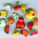 15 Realistic snap-together fruit buttons modern plastic buttons