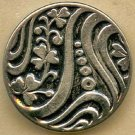 Art Nouveau floral style button vintage button