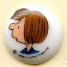 Patty button peanuts cartoon character vintage button
