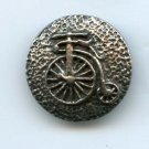 Penny farthing bicycle button vintage metal button